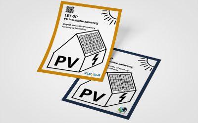 Uw bedrijfspersoonlijke PV sticker volgens NEN1010 norm