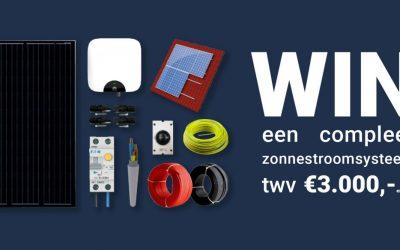 Win een compleet zonnestroomsysteem twv €3.000,- excl. BTW